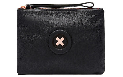Free EXPRESS - Authentic BNWT MIMCO Medium MIM POUCH Daydream Black Wallet