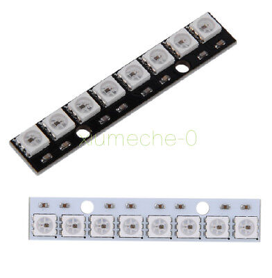 WS2812 5050 RGB LED Lamp Panel Module 5V 8-Bit Rainbow LED Precise for Arduino M
