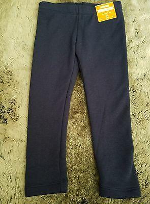 Gymboree Girls Navy Blue Fur Lined Leggings Pants, Size 4 Retail $22