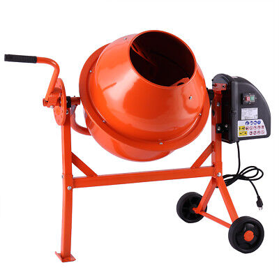 2-1/5cuft Mixer Concrete Cement Machine Electric Barrow Portable Heavy Duty