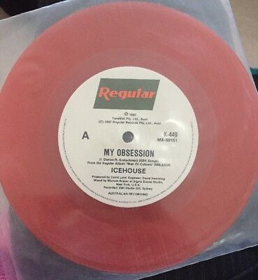 Icehouse My Obsession Australian Red Vinyl 45 EX Rare