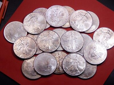 1 Roll (20) ≥ Cull - Circ. Silver Eagles 1997-2013 Silver Dollar Coin Investment