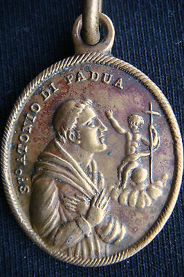 Rare Old Antique Saint Anthony of Padua /Our Lady of Carmel  Beautiful  Medal