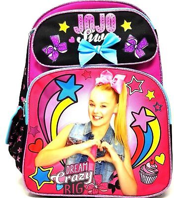 "Black JoJo Siwa 16"" Black Cargo Backpack"