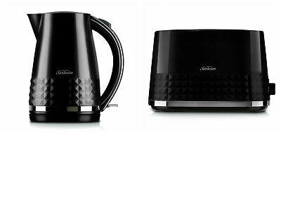 Sunbeam KE1900K TA1900K Diamond Collection Kettle Toaster Pack - Black