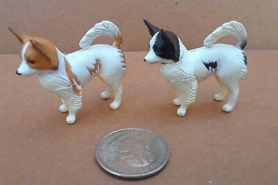 2 different Papillion figures, Kaiyodo ChocoQ pets. detailed & HTF