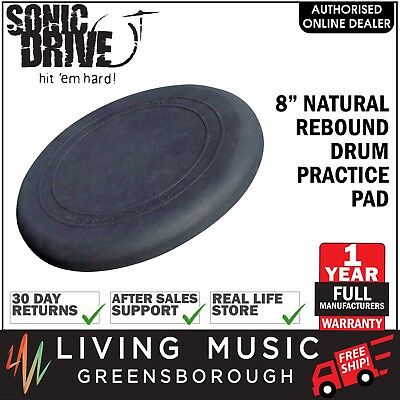 """NEW Sonic Drive 8"""" Natural Rebound Drum Practise Pad for Beginners"""