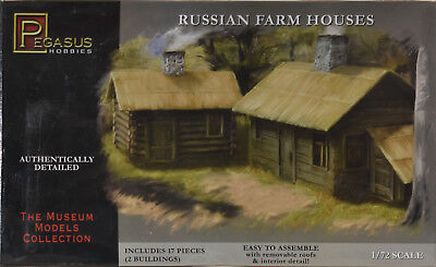 Pegasus Russian Farm Houses 1:72 Scale Fast Assembly Kit