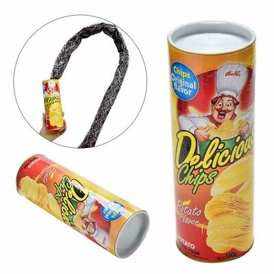 Potato Chip Snake In A Can Gag Gift Prank Funny Scary Shock Halloween Gift New