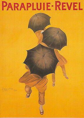 A0 Print Vintage canvas Advert Painting Yellow poster Umbrella french