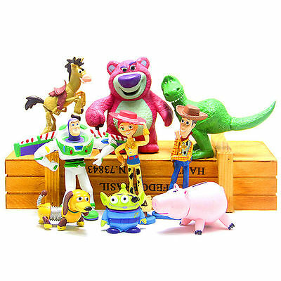 New Disney Toy Story 3 Heroes 9pcs Figurine Figures Cake Toppers Play Set