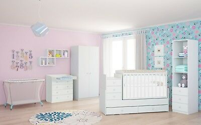 polini kids babyzimmer set 3 teilig babybett mit. Black Bedroom Furniture Sets. Home Design Ideas