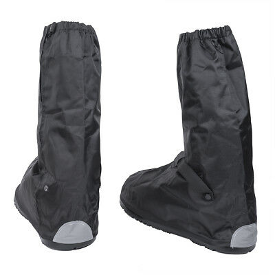 Waterproof Rain Guard Non-Slip Motorcycle Bike Reflective Boot Shoes Cover XL AU