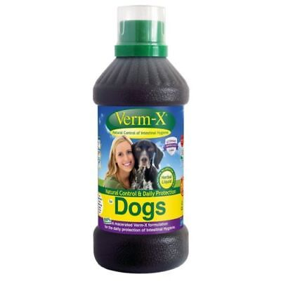 Verm -X Natural Control Daily Protection Dog Health Care Intestine Support 250Ml