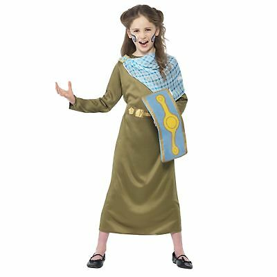 Kids Girls Horrible Histories Boudica Fancy Dress Book Week Day Costume Roman