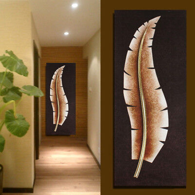 2017 Unframed Leaves Modern Abstract Canvas Painting Print Home Wall Art Picture