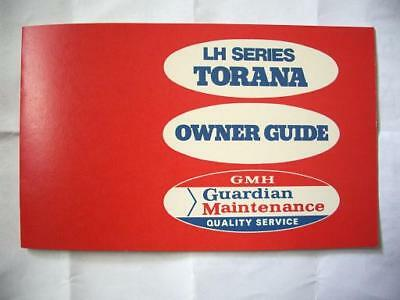 Holden LH Torana Owners Guide Service Manual Booklet Blank GMH SLR L34 5000 RARE