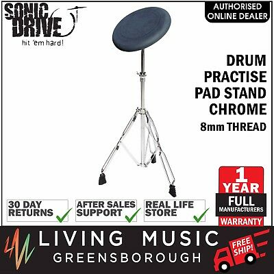 NEW Sonic Drive Drum Practise Pad Stand for Beginners Chrome 8mm Thread