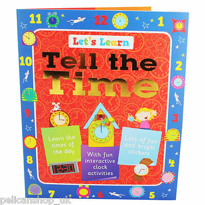 TELLING THE TIME - LETS LEARN LEARNING CHILDREN'S BOOK Inc STICKERS