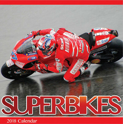 "Superbike & Moto Gp 2018 Calendar With ""free"" Uk Tracked Delivery"