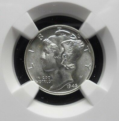 1945-P Mercury Dime Ngc Ms66