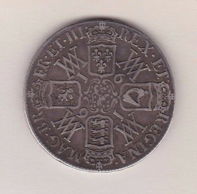1691 William & Mary Silver Crown In Good Fine Or Better Condition