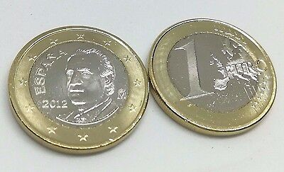 1 EURO 2012 SPAIN KING, Genuine GEM UNC Euro Coin from Roll