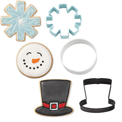 Christmas Snowman Metal Cookie Cutter Set of 3 by Wilton