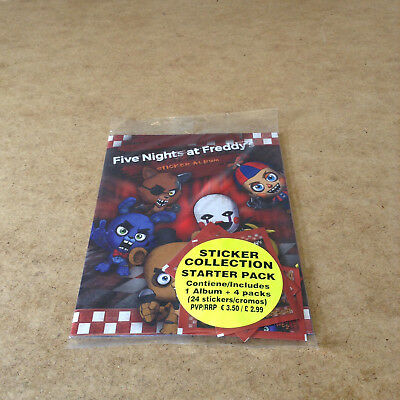Five Nights At Freddy's Sticker Collection Starter Pack = 1 Album 24 Stickers