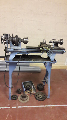 Vintage Relm / Relmac backgeared & screwcutting Lathe metal / wood lathe, rare?