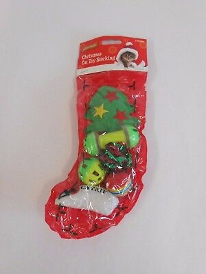 Festive Friends Christmas Cat Toy Stocking