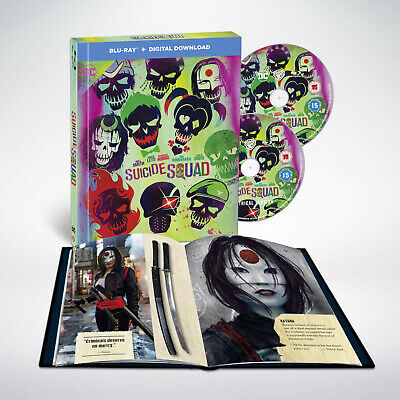 Suicide Squad (Blu-ray Filmbook) Will Smith, Margot Robbie, Jared Leto