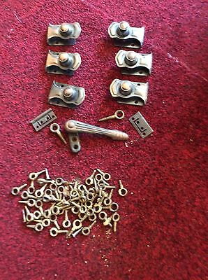 Architectural Antique Bronze Well Marked Stair Carpet Clips- Screw Down To Affix