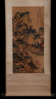 Excellent Rare Old Scroll Chinese Hand Painting Landscape WangHui Marked KK693