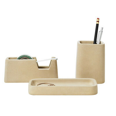 NEW Areaware concrete desk set sand Men's by Until