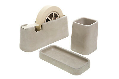 NEW Areaware concrete desk set by Until