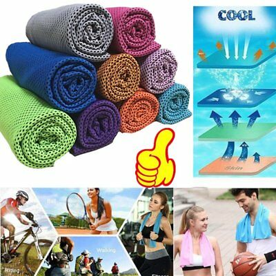Cold Towel Summer Sports Ice Cooling Towel Hypothermia Cool Towel 90*35CM W0