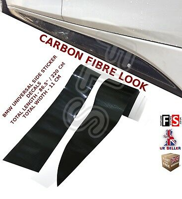 Bmw 1 Series F20 F21 M Performance Side Sticker Skirts Decals Vinyl Carbon Look