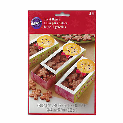 Gingerbread Boy Sliding Treat Boxes, 3 Count