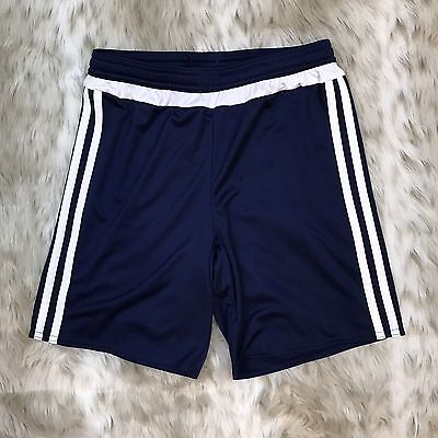 Adidas Soccer Shorts Youth M Navy Blue Climalite