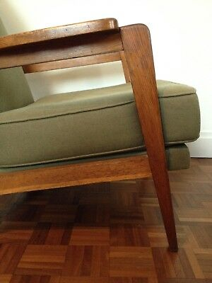 A Pair of Vintage French Mid Century Armchairs