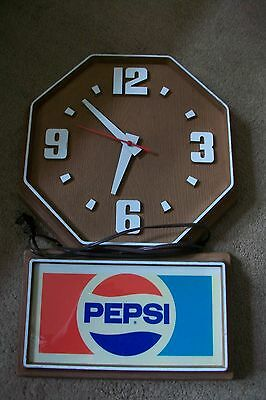 "Vintage "" Electric "" Pepsi Cola Wall Clock Impact International Inc 20"" X 13 1/2"