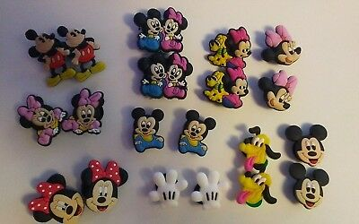 20pc Mickey Mouse Shoe Charms Cupcake toppers Jibbitz Croc US Seller Bracelet