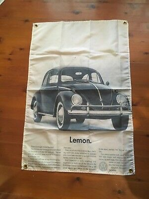 VW bettle Volkswagen BMW 3x2 foot mancave flags shed poolroom wall hanging