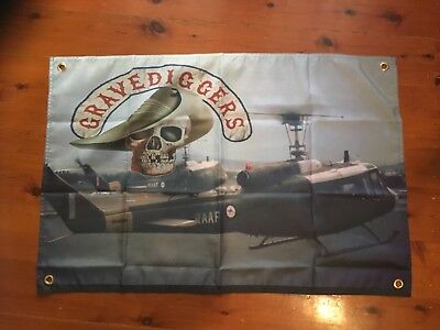3x2 foot mancave flags shed poolroom wall hanging RAAF STONE Vietnam veterans