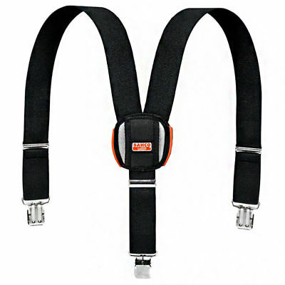 Bahco 4750-BWC-1 Padded Adjustable Work Braces With Heavy Duty Trouser Clips