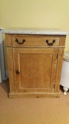 Antique marble top cupboard