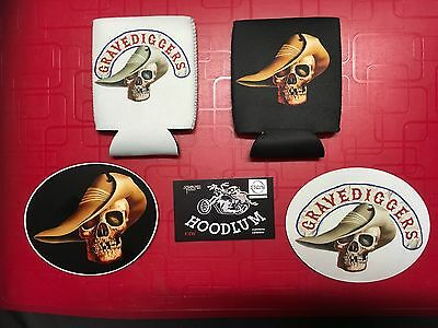Stone stubby coolers and two STONE vinyl stickers LICENCED product motor cycle