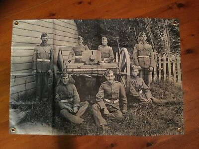 Gun crew WW1 soldier man cave shed flag pool room sign Australian army veterans