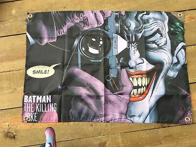 The joker batman 3x2 ft Man cave flag art pool room sign wall hanging signs bar